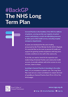 Back GP, The NHS Long Term Plan logo