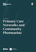 Primary Care Network and Community Pharmacists front coverView the Primary Care Networks and Community Pharmacists statement