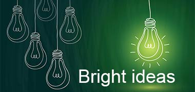 This image of light bulbs is promoting the College's Clinical and Innovation teams new programme called Bright ideas