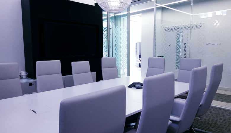 This image shows the inside one of the meeting rooms at 30 Euston Square. Meeting rooms can be named after a general practitoner