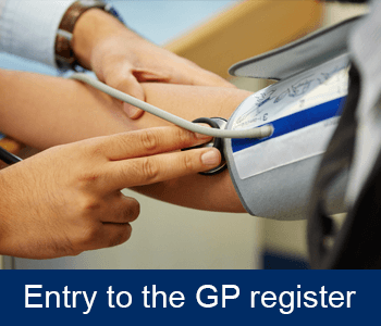 Entry to the GP register