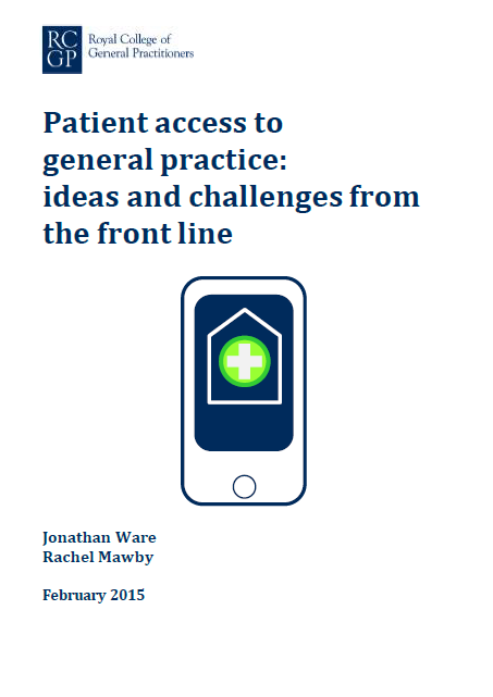 Cover of report on patient access to general practice