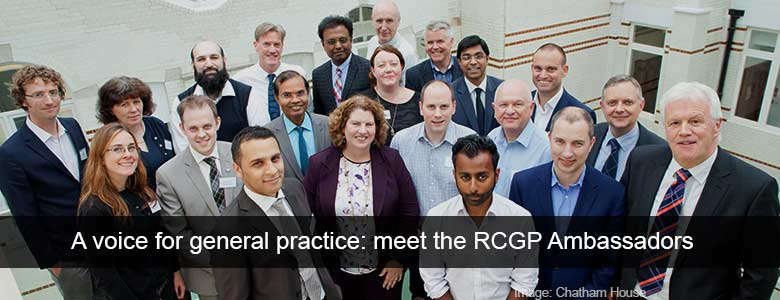 Group photograph of the RCGP GP Forward View Ambassadors