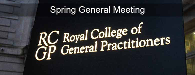 This image is used to promote the RCGP Spring General Meeting